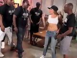 Glamour Girl Get Interracial Gangbang In The Gheto