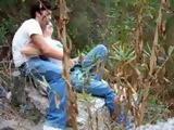 Voyeur Taped Teen Couple In Woods Near Beach having Sex