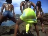 Black African Ladies Twerking Outdoors