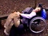 Girl In a Wheelchair Gets her Pussy Licked In a Park By Her Lesbian Girlfriend