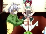Shemale anime maid gets handjob
