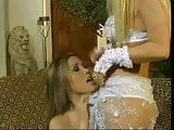 Big tit asian lesbian plays with busty blonde friend