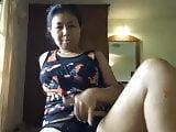 Mature Asian playing 3