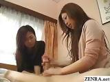 CFNM JAV clothed women give handjob with big cumshot